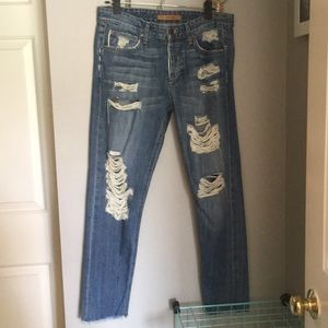 Joe's ripped jeans